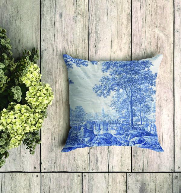 Smart Art Bespoke Printed Cushion Delft