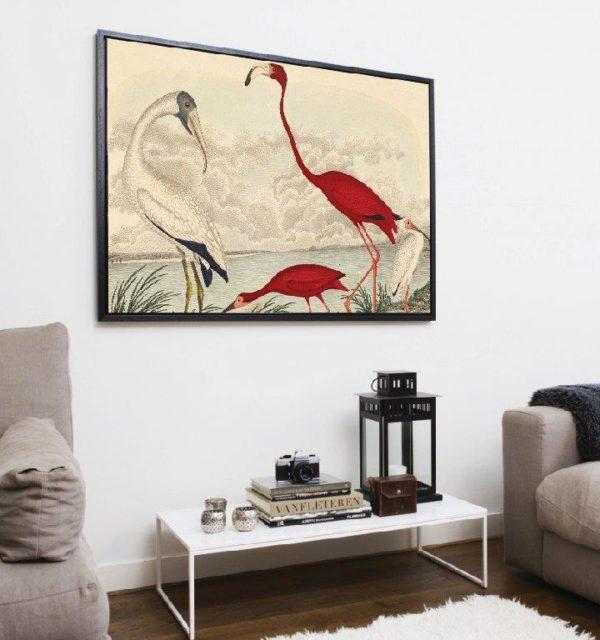 Smart Art Printed Canvas flamingos