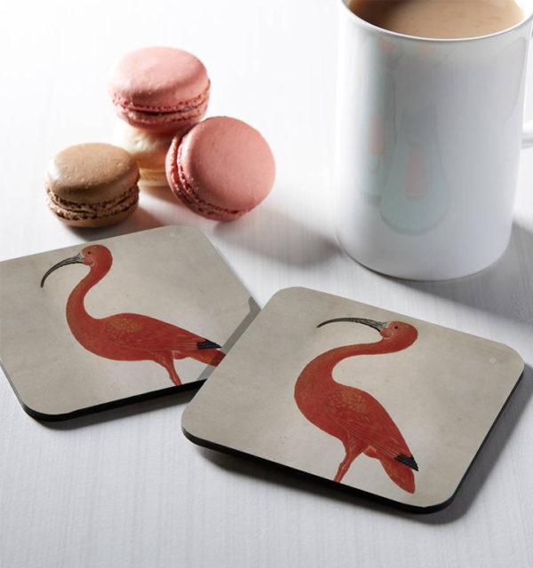 Smart Art Printed Square Coasters Flamingo