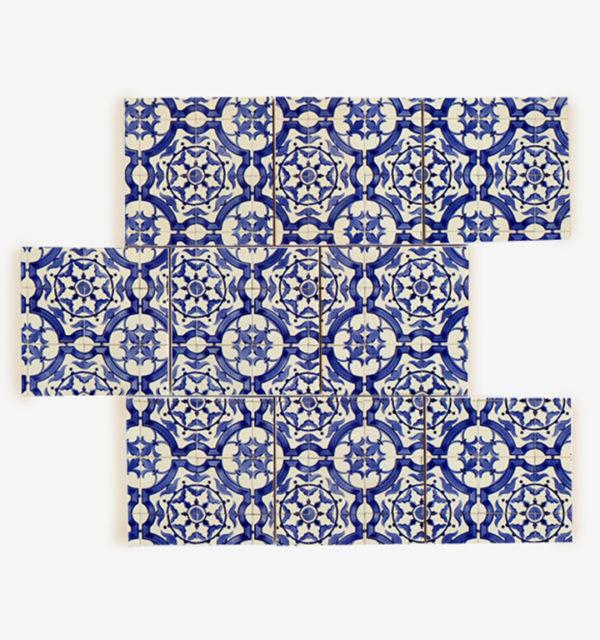 Smart Art Printed Tiles Blue Pattern