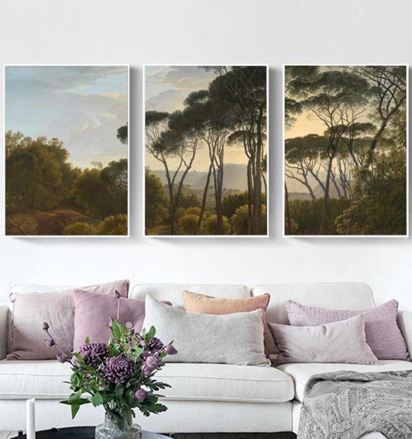 Smart Art Printed Triptych Canvas Landscape