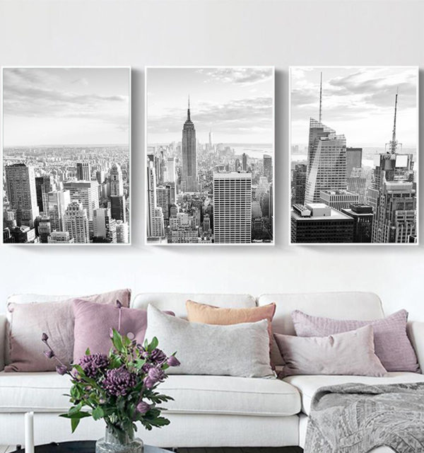 Smart Art Printed Triptych Canvas Ney York City