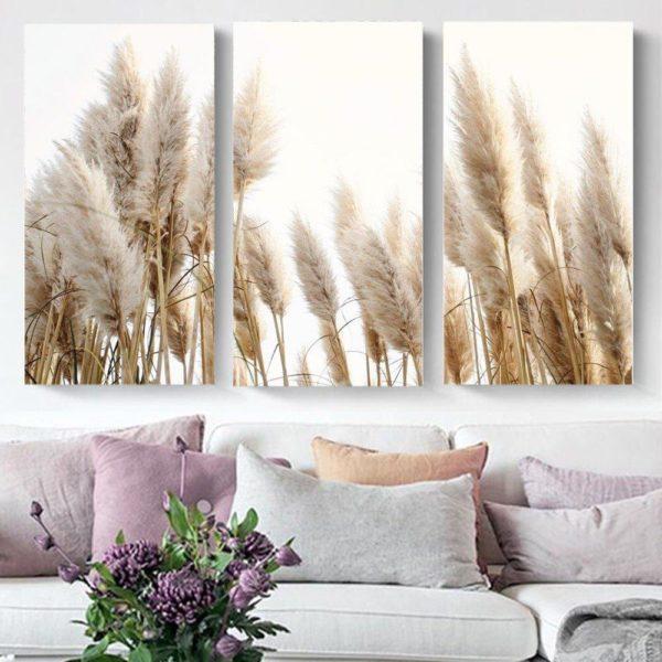 Smart Art Printed Triptych Pampas