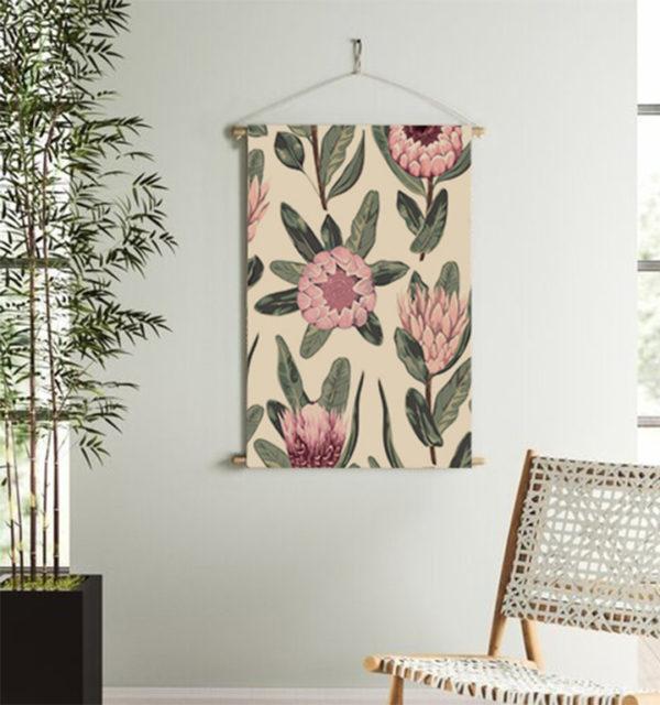 Smart Art Printed Wall Hanging Protea