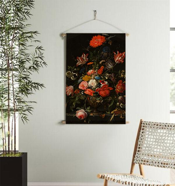Smart Art Printed Wall Hanging Vintage Floral Red Flower