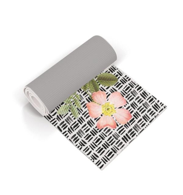 Smart Art Printed Yoga Mat Boho and Flowers