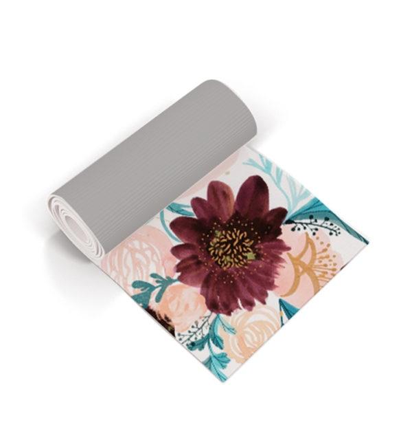 Smart Art Printed Yoga Mat Floral