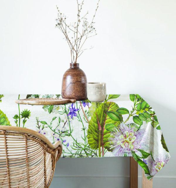 Smart Art Bespoke Printed Table Cloth Floral Print