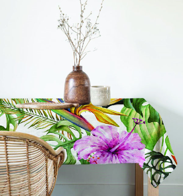 Smart Art Bespoke Printed Table Cloth Colourful Flowers