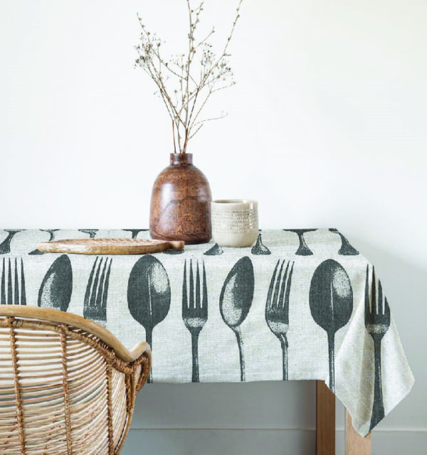 Smart Art Bespoke Printed Table Cloth Forks and Spoons