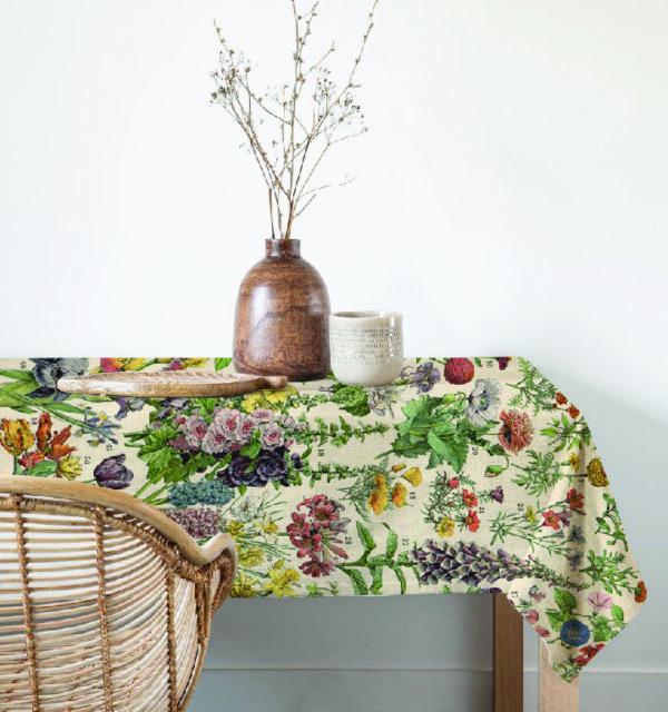 Smart Art Bespoke Printed Table Cloth Vintage Botanical