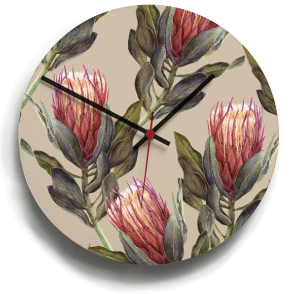 smart art bespoke printed designer clock protea