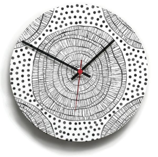 smart art bespoke printed designer clock pattern