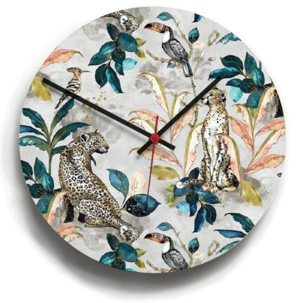 smart art bespoke printed designer clocks jungle