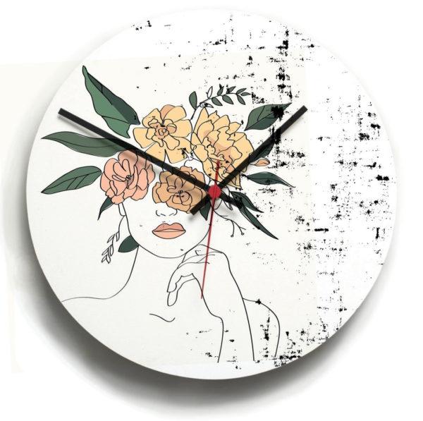smart art bespoke printed designer clocks portrait
