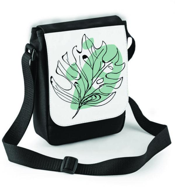 Smart Art Shoulder Bag Abstract Leaf