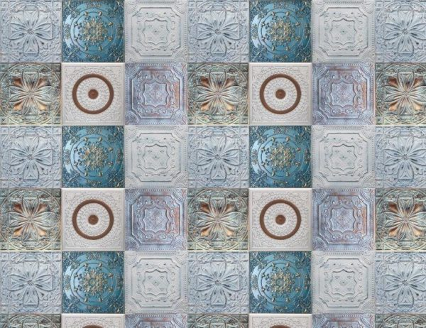 Smart Art Bespoke Printed Vinyl Tiles Embossed 20cm