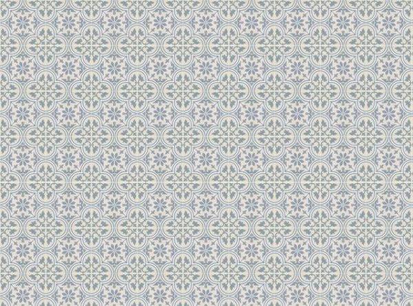 Smart Art Bespoke Printed Vinyl Tiles Blue Pattern 15X15