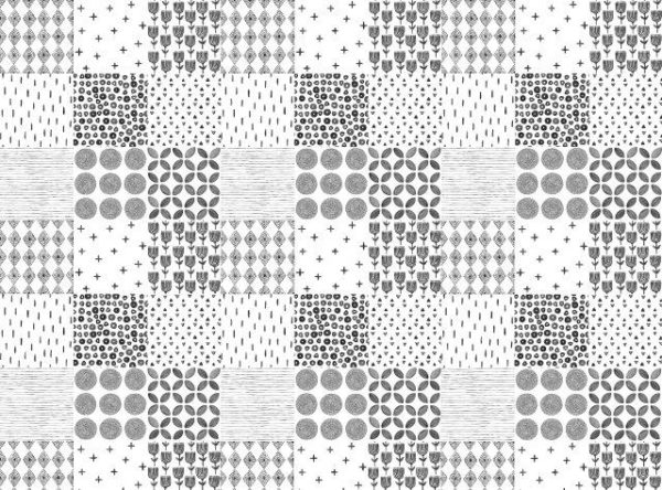 Smart Art Bespoke Printed Vinyl Tiles Boho 15X15