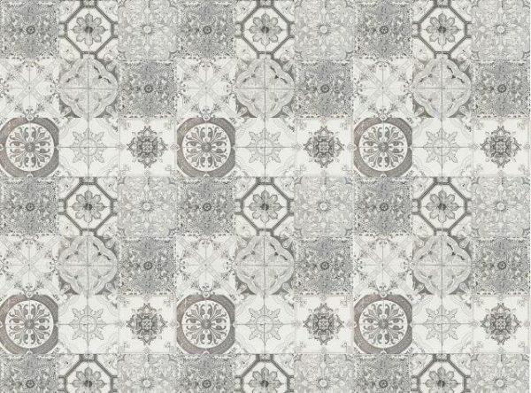 Smart Art Bespoke Printed Vinyl Tiles Black and White 15X15 Pattern
