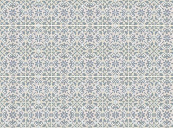 Smart Art Bespoke Printed Vinyl Tiles Blue Pattern 20X20