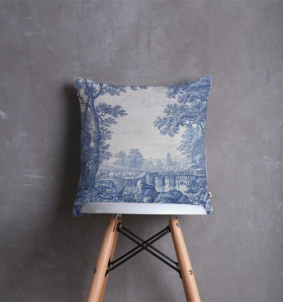 Smart Art Bespoke Printed scatter Cushion Cover Delft