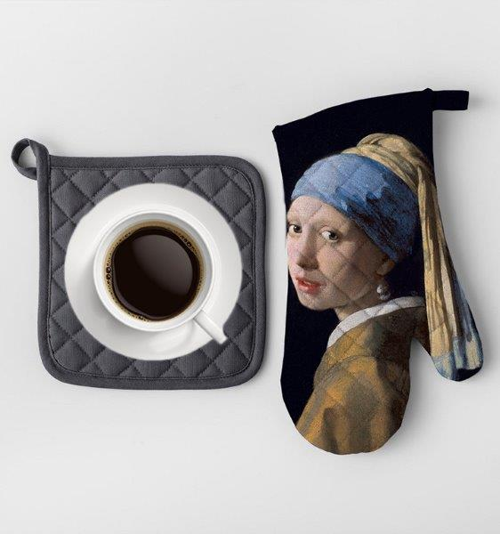 Smart Art Bespoke Printed Oven Gloves Girl with the Pearl Earring