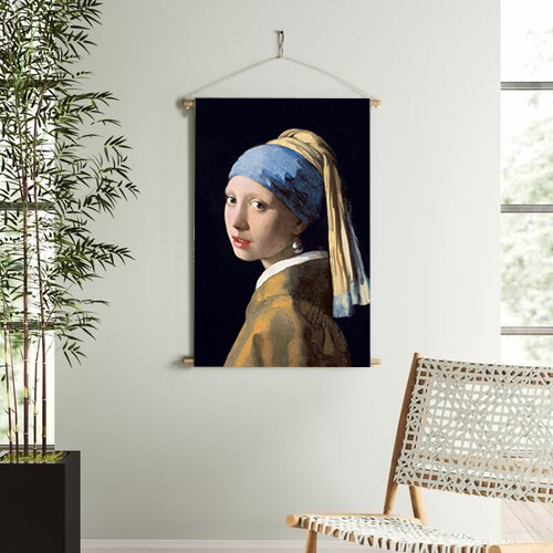 Smart Art Printed Wall Hanging Girl with the Pearl Earring