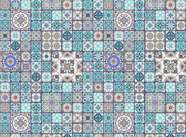 Smart Art Bespoke Printed Vinyl Tiles Moroccan 15X15