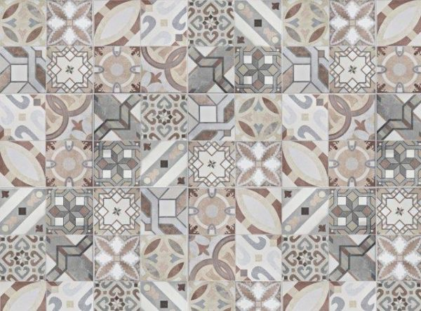 Smart Art Bespoke Printed Vinyl Tiles Washed Out Look 15X15