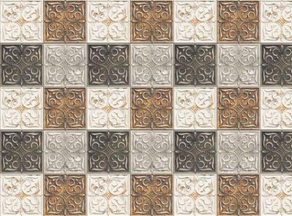 Smart Art Bespoke Printed Vinyl Tiles brown antique 20X20