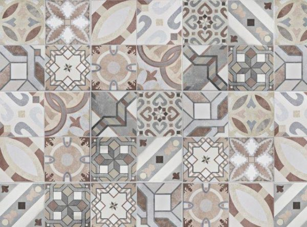 Smart Art Bespoke Printed Vinyl Tiles Washed Out Look 20X20