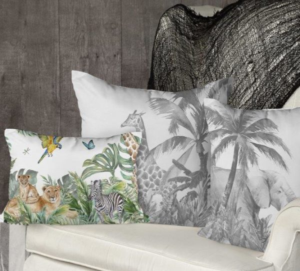Smart Art Bespoke Printed Cushion Cover jungle animals