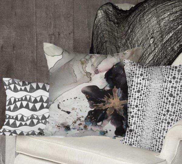 Smart Art Bespoke Printed Cushion Cover Marble and boho