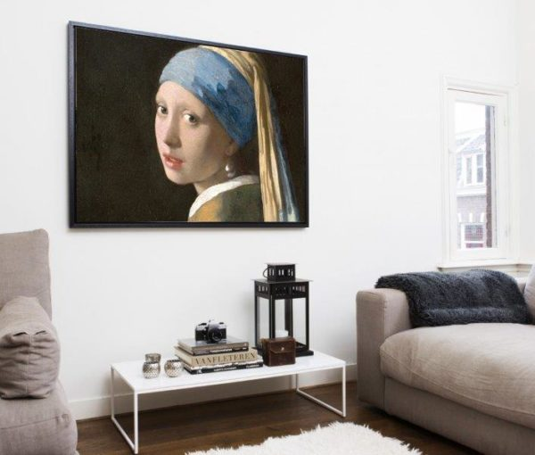 Smart Art Bespoke Printed Floating Canvas Girl with the pearl earring