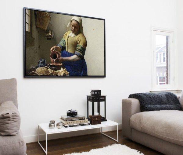 Smart Art Bespoke Printed Floating Canvas milk maid