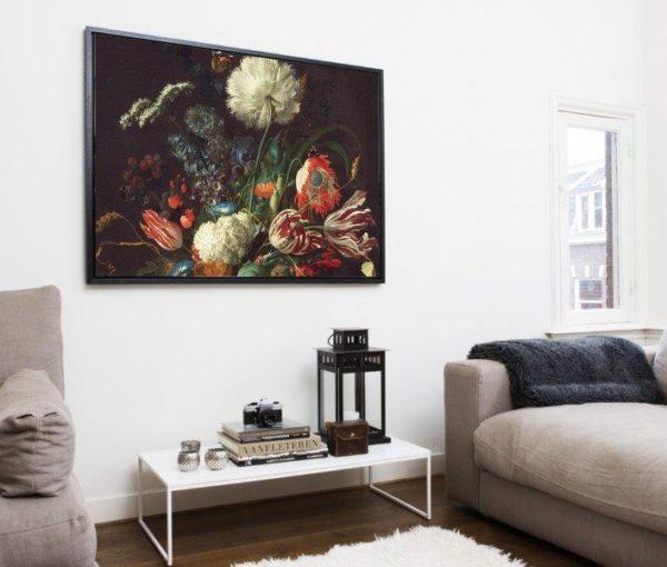 Smart Art Bespoke Printed Floating Canvas Vintage Floral