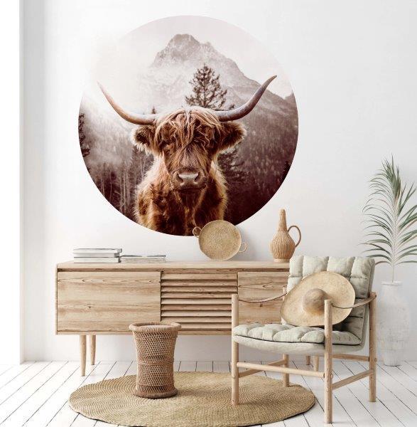 Smart Art Bespoke Printed Vinyl Sticker Highlander Cows