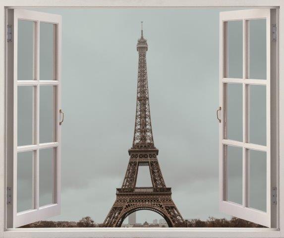 Smart Art Bespoke Printed Faux Peel and Stick Vinyl Stickers Eiffel Tower