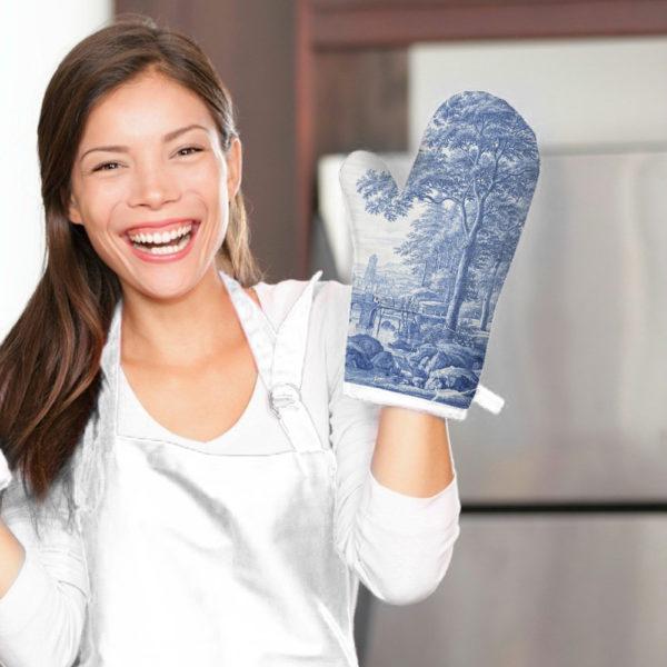 Smart Art Bespoke Printed Oven Glove Delft