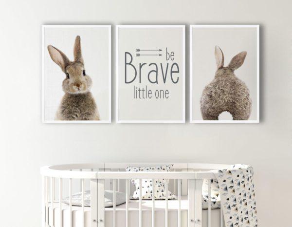 Smart Art Bespoke Printed Photopaper Poster Prints Rabbit