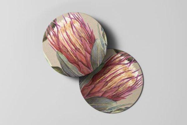 Smart Art Bespoke Printed Protea Coaster
