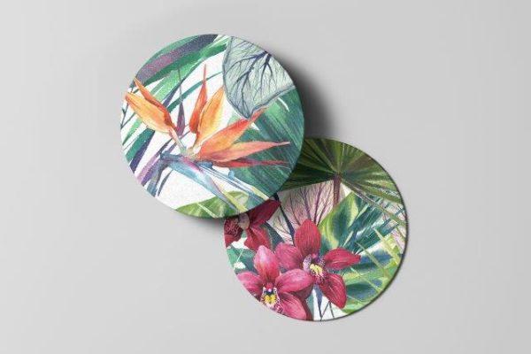 Smart Art Bespoke Printed Tropical Coaster