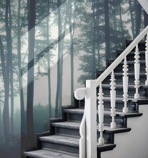 Smart Art Bespoke Printed Wallpaper Lifestyle Misty Forrest