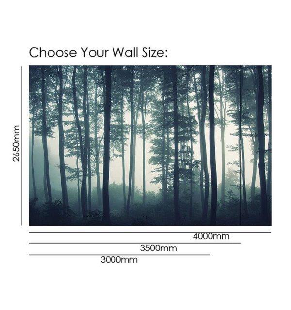 Smart Art Bespoke Printed Wallpaper Size Misty Forrest