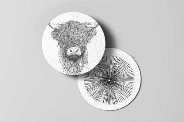 Smart Art Bespoke Printed bull Coaster