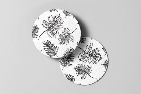 Smart Art Bespoke Printed feathers Coaster
