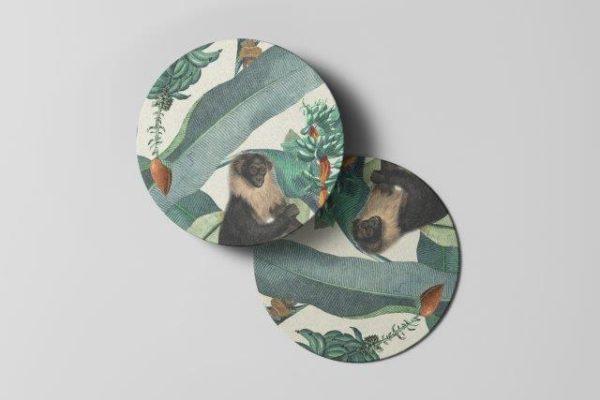 Smart Art Bespoke Printed jungle Coaster