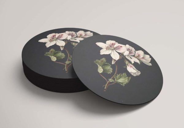 Smart Art Bespoke Printed Round Coaster Floral