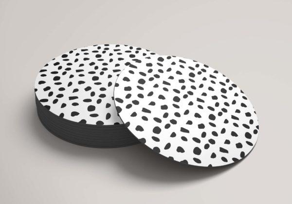 Smart Art Bespoke Printed Round Coaster Boho